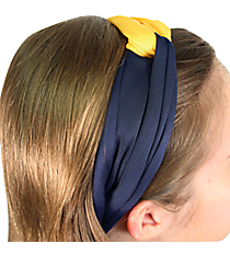 Navy and Yellow Knotted Headband #NH0007-NVYE