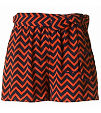 First Down Chevron Shorts, Navy and Orange #NKP300712-ST96 *Choose Your Size