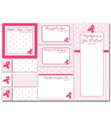 "Pink Ribbon ""My Hope is in You, O Lord"" Sticky Notes Set #38753"