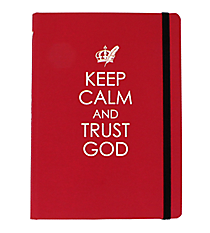 """Keep Calm and Trust God"" Hardcover Journal #JBB036"