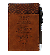 Jeremiah 29:11 Brown LuxLeather Pocket Notepad #NBP023