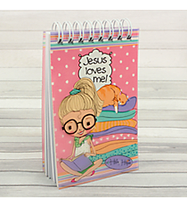"Holly & Hope ""Jesus Loves Me"" Small Wirebound Notepad #NP034"