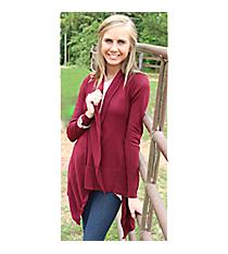 Sweater Weather Cardigan, Burgundy #OG-65614 *Choose Your Size