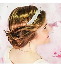 Pearl Beaded White Headband #OH0058-PRL