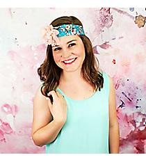 Pink and Ivory Lace Ribbon Flower Headband #OH0402-GLTML