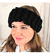 Chunky Kitted Headband, Black #OH0536-BLK