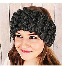 Chunky Kitted Headband, Gray #OH0536-GRY
