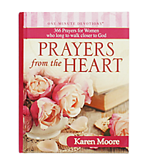 """One-Minute Devotions - Prayers from the Heart"" by Karen Moore #OM050"