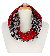 Houndstooth and Polka Dots Infinity Scarf #OMU-INF-HT