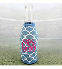 Light Blue and White Moroccan Bottle Cozy #OMU-BCOZ-LTBL