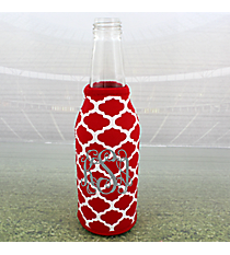 Red and White Moroccan Bottle Cozy #OMU-BCOZ-RD