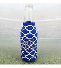 Royal Blue and White Moroccan Bottle Cozy #OMU-BCOZ-RYBL