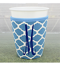 Light Blue and White Moroccan Cup Cozy #OMU-CCOZ-LTBL