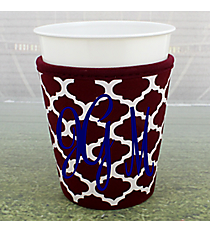 Maroon and White Moroccan Cup Cozy #OMU-CCOZ-MR
