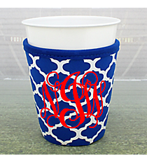 Royal Blue and White Moroccan Cup Cozy #OMU-CCOZ-RYBL
