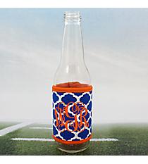 Royal Blue and White Moroccan with Orange Trim Wrap-Around Can Cozy #OMU-FCOZ-RYOR