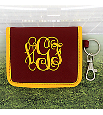 Maroon with Yellow Trim ID Wallet #OMU-IDWT-MRYW