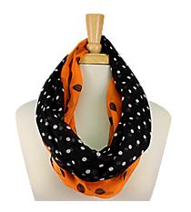 Orange and Black Polka Dot Infinity Scarf #OMU-INF-ORBK