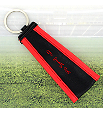 Black with Red Trim Wristlet Key Fob #LFOB-BKRD