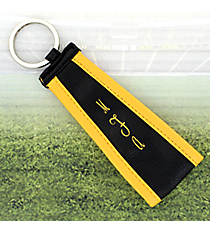 Black with Yellow Trim Wristlet Key Fob #LFOB-BKYW