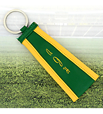 Green with Yellow Trim Wristlet Key Fob #LFOB-GRYW