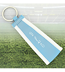 Light Blue with White Trim Wristlet Key Fob #LFOB-LTBL