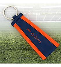Navy with Orange Trim Wristlet Key Fob #LFOB-NVOR