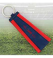 Navy with Red Trim Wristlet Key Fob #LFOB-NVRD