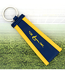 Navy with Yellow Trim Wristlet Key Fob #LFOB-NVYW