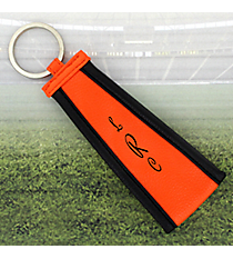 Orange with Black Trim Wristlet Key Fob #LFOB-ORBK