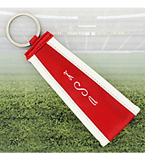 Red with White Trim Wristlet Key Fob #LFOB-RD