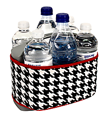 Houndstooth with Crimson Trim Cover and 6-Pack Cooler Set #OMU-SCVR-HT