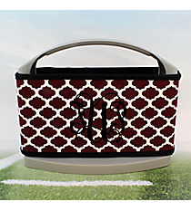 Maroon and White Moroccan with Black Trim Cover and 6-Pack Cooler Set #OMU-SCVR-MRBK