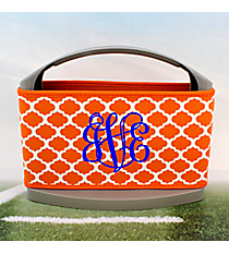 Orange and White Moroccan Cover and 6-Pack Cooler Set #OMU-SCVR-OR