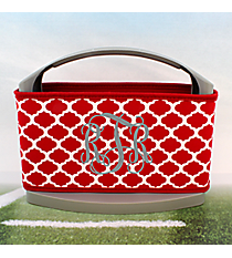 Red and White Moroccan Cover and 6-Pack Cooler Set #OMU-SCVR-RD