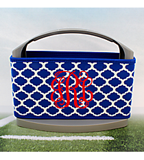 Royal Blue and White Moroccan Cover and 6-Pack Cooler Set #OMU-SCVR-RYBL
