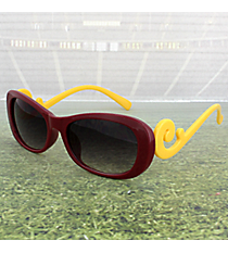 Maroon and Yellow Swirl Sunglasses #OMU-SUN-MRYW