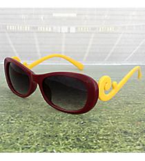 Maroon and Yellow Swirl Sunglasses #OMU-SUN-MRYW
