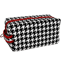 Houndstooth with Crimson Trim Travel Bag #OMU-ZIP-HT