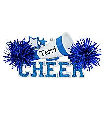 "2.5"" Blue Cheer Ornament #OR731-A-BLUE"