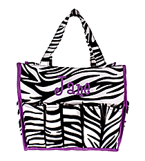 Zebra and Purple Organizer Bag #HY009-2006-PU