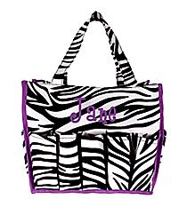 Zebra and Purple Organizer Bag #HY009-2006-PU
