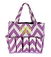 Purple Chevron Organizer Bag #HY009-601-PU