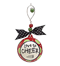 """Love to Cheer"" Ceramic Ornament #9719447"