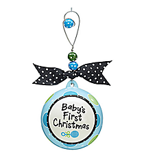 "Blue ""Baby's First Christmas"" Ceramic Ornament #9719471"