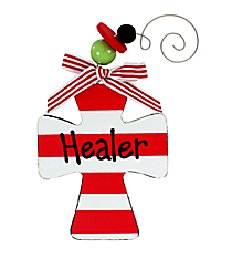"""Healer"" Wooden Cross Ornament #9719566-HEALER"