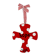 """Hope"" Wooden Cross Ornament #9720161-HOPE"
