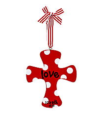 """Love"" Wooden Cross Ornament #9720161-LOVE"