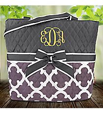 Gray Moroccan Geometric Quilted Diaper Bag #OTG2121-GRAYetric Quilted Diaper Bag #OTG2121-NAVY
