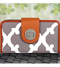 Gray Moroccan Geometric Clutch Wallet #OTG694-GRAY